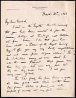 Letter to Macleod 30/03/1923