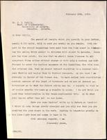 Letter to Dr. J. B. Collip 28/02/1923