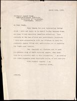 Letter to Professor August Krogh 16/03/1923
