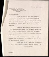 Letter to Professor H. J. Hamburger 02/01/1923