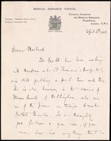 Letter to Macleod 16/04/1923