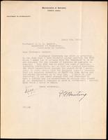 Letter to Professor J. J. R. Macleod 04/04/1923