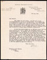 Letter to Macleod 9/07/1923