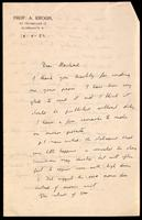 Letter to Macleod 20/09/1923