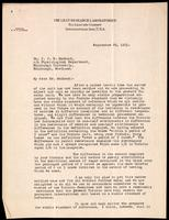 Letter to Dr. J. J. R. Macleod 29/09/1923