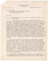 Letter to C. H. Best in London 19/02/1926