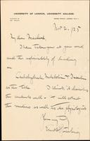 Letter to Macleod 2/11/1925