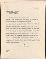 Letter to Longmans Green & Company 21/10/1925