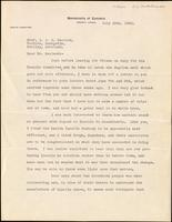 Letter to Dr. Macleod in Scotland 16/07/1925