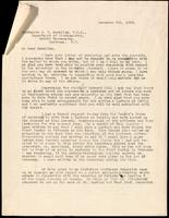 Letter to Professor A. B. Macallum 5/12/1923