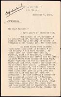 Letter to Macleod 7/12/1923