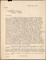 Letter to Dr. J. B. Collip 18/12/1923
