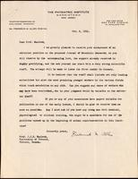 Letter to Prof. Macleod 8/11/1921