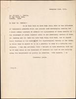 Letter to Dr. Joslin 21/11/1921