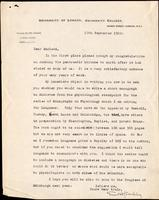 Letter to Macleod 17/09/1922