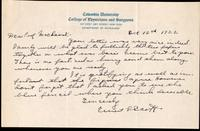 Letter to Prof. Macleod 12/10/1922