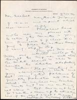Letter to Macleod 13/11/1922