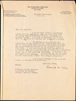 Letter to Dr. Macleod 13/11/1922