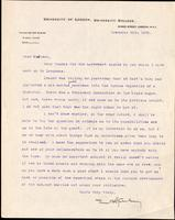 Letter to Macleod 20/11/1922