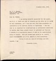 Letter to Dr. D. R. Hooker 14/11/1922