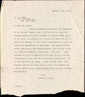 Letter to Dr. B. Sachs 26/02/1923