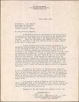 Letter to Professor J. J. R. Macleod 26/04/1923