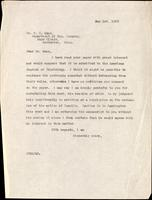Letter to Dr. F. C. Mann 1/05/1923