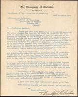 Letter to Professor J. J. R. Macleod 28/12/1923