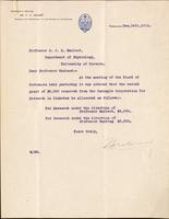 Letter to Professor Macleod 14/12/1923