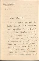 Letter to Macleod 9/01/1924