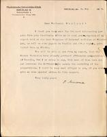 Letter to Professor Macleod 8/05/1924