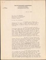 Letter to Dr. J. J. R. Macleod 5/05/1923