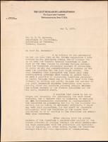 Letter to Dr. J. J. R. Macleod 8/05/1923