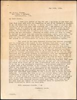 Letter to Dr. G. H. A. Clowes 14/05/1924