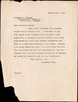 Letter to Professor G. Zuelzer 21/10/1927
