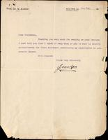 Letter to Professor Macleod 5/11/1927
