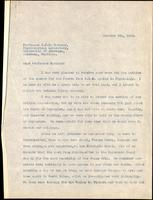 Letter to Professor Macleod 9/10/1928