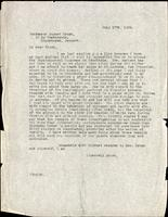 Letter to Professor August Krogh 17/07/1926