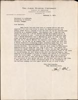 Letter to Professor J. J. R. Macleod 6/02/1926