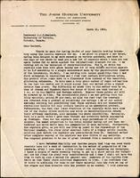 Letter to Professor J. J. R. Macleod 12/03/1926