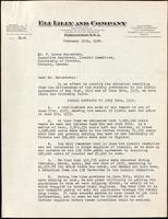 Letter to F. Lorne Hutchison 15/02/1924