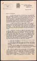 Letter to Dr. Fitzgerald regarding patent rights for Great Britain 4/07/1922