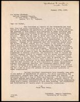 Letter to Sir Walter Fletcher 17/01/1923