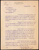 Letter forwarded to the Insulin Committee from Dr. A. McPhedron 29/11/1922