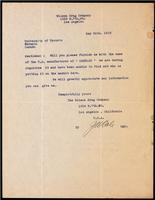 Letter to the Insulin Committtee 24/05/1923