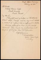 Letter to the Insulin Committee 25/02/1923