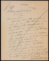 Letter forwarded to the Insulin Committee from the Connaught Laboratories ca. 01/1923