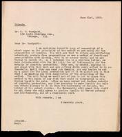 Letter to Dr. R. T. Woodyatt 21/06/1922