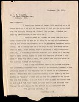 Letter to R. T. Woodyatt 7/09/1922