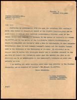Letter to Charles H. Riches 17/10/1925
